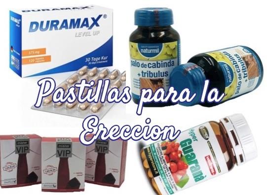 pastillas y pildoras para mejorar la ereccion y curar la disfuncion erectil masculina